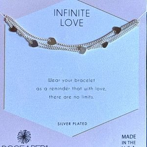 DOGEARED Infinite Love Heart Triple Chain Bracelet